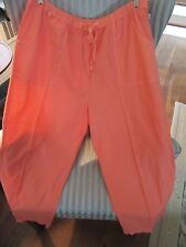 NWT! FRESH PRODUCE COTTON SHEETING TOPSTITCH CAPRI ON MELON SHER.(1X) RELAX FIT