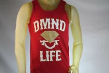 "DIAMOND SUPPLY CO ""DMND LIFE"" RED MEN TANK TOP W/ RED & GOLD LOGO size Small"