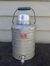 "Vintage STANLEY Large Thermal Jug Thermos Metal ""Will Not Break"" U.S.A."