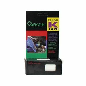 "Kenyon Klear K-Tape 3"" x 18"" Clear Urethane Repair Tape for Smooth Fabrics/Vinyl"