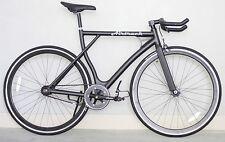 Airtrack Bikes Aluminum Frame 24/7 Single Speed Black Fixed Gear Fixie 53 cm
