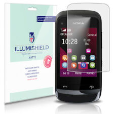 iLLumiShield Matte Screen Protector w Anti-Glare/Print 3x for Nokia C2-02