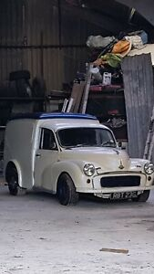 Morris minor van hot rod fait twin cam engine barn find tax and mot exempt proje