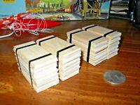 O scale-gauge flatcar lumber load plywood bundles handmade