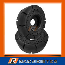175x25 Set Of 2 Solid Tires W Rims Case Cat Jcb Skytrak