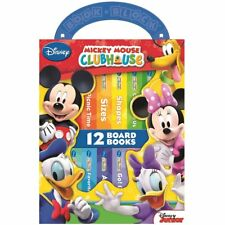 NEW Disney Mickey Mouse Clubhouse 12 Board Books Kids Early Learning Collection!