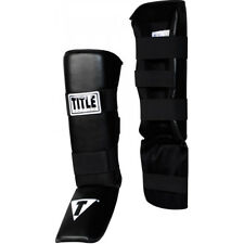 Title MMA Vinyl Shin Instep Guards-Adult