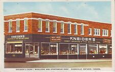 Canada Dunnville Ontario - Kneider's China Shop circa 1950 ads unused postcard