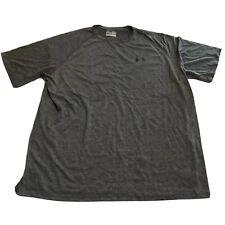 Under Armour Heat Gear Loose Training Top Tee Shirt Gray Mens Size XL