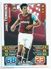 2015 / 2016 EPL Match Attax Base Card (348) James TOMKINS West Ham United