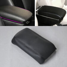 New Black For 2003-2007 Honda Accord Leather Front Console Lid Armrest Cover
