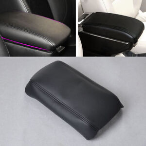New Black fit for 2003-2007 Honda Accord Leather Front Console Lid Armrest Cover