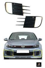 FOR VW GOLF 6 GTI MK6 2009-2012 BUMPER GRILLES COVER FOG LIGHTS LEFT+RIGHT PAIR