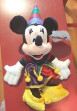 Disney Tokyo Disneyland 15 Years Celebration Minnie Mouse Mini Bean Bag Jester