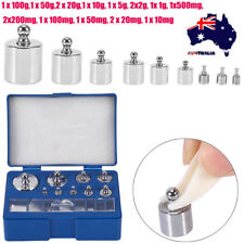 17PC 10mg-100g Grams 211.1g Precision Calibration Weight Set Test Jewelry Scale