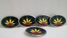 LOT 5 Belt Buckles Marijuana Leaf Pot Weed Ganja Rasta Bob Marley Jamaica