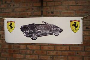 Ferrari Mondial Cabriolet large pvc banner  garage  work shop  classic show