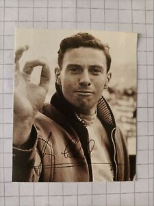 Jim Ckark -  sticker 'I PILOTISSIMI #20 - Agip (Italy) - 1994 - Signed