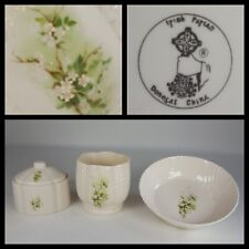 More details for irish parian donegal fine china blossom trinket box planter and dish