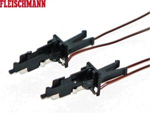 Fleischmann H0 00381438 Stromführende NEM Kupplung 2-polig (2 Stück) - NEU + OVP