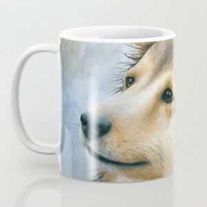Coffee Mug Cup 11oz or 15oz Dog 122 Sheltie Collie art L.Dumas