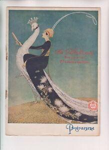 "VINTAGE ORIGINAL THEATRE PROGRAMME - Palladium ""Life"" fabulous art deco artwork"