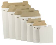 White Cardboard Cddvd Mailers Envelope Stay Flat Rigid With Self Seal Flap