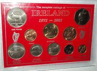 Republic of Ireland The Coinage Eire Irish Decimal Pre Euro Cased Coin Gift Set