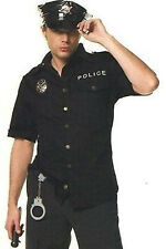 Mens Police Costume Cop Officer Fancy Uniform Dress Costume Fancy Dress Party