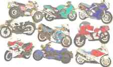 Set Of Nine Motorcycle Motorbike Quality Enamel Lapel Pin Badges