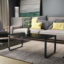 Modern Stylish & Luxury Tempered Glass Coffee Table In Black Home Furniture UK