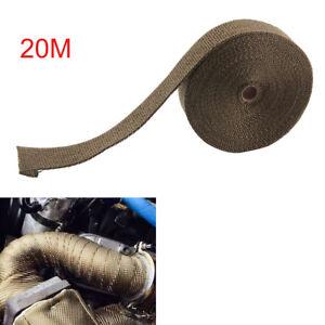 20M Exhaust Heatwrap Manifold Headers Downpipe Titanium Heat Wrap Tape Rap