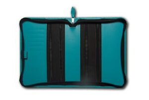 Deluxe A5 Zip Diary & Notebook Cover In High Quality UK Leather Card Holder