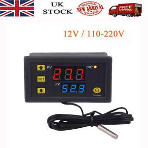 Digital Temperature Controller Switch Probe 10A Thermostat Control 12V/110-220V