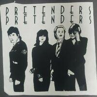 "The Pretenders Iron On Heat Transfer Black 9""x 9.5"" Punk Rock Band"