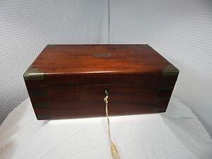 1821c. Springweller & Thomson Brass/Rosewood Portable Desk London England