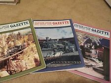 3) NARROW GUAGE AND SHORT LINE GAZETTE MAGAZINES 1989, 1995, & 2010