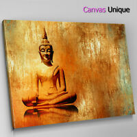 AB1424 orange rustic Buddha Abstract Wall Art Picture Large Canvas Print