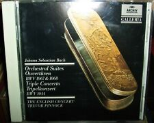 Bach: Orchestral Suites; Triple Concerto English Concert Pinnock CD 1989 Archiv
