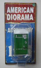 """Green Soda Vending Machine American Diorama 1:24 2.75"""" Accessory"""