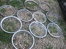 11 pcs Used Assorted Sizes Vintage WHEEL TRIM RING RINGS good for decor