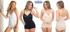 NEW MOULDED PANTIE CORSELETTE BY NATURANA WHITE BLACK SKIN SIZES 36-44 B& C CUPS