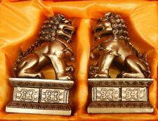 1 Pair Chinese Oriental Feng Shui Fu Foo Dog Home Door Lions Guardians Statue