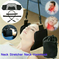 Hammock Head Neck Pain Relief Support Massager Cervical Traction Stretcher Black
