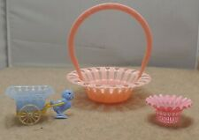 Vintage Large Pink Party Favor With 2 Smaller Favors