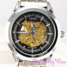 Relojes de pulsera unisex de plata de acero inoxidable