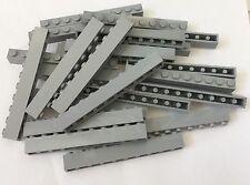 Lego X25 Pc. New Light Bluish Gray 1x10 Brick Medium Stone Gray Building Bricks
