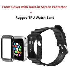 Apple Watch Series 1 and 2 Armor Case + Band Strap + Screen Protector 42 mm Gray