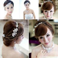 Élégant Jeunes filles Mariage Fleur Pearl Crystal Serre-tête Cheveux Accessoires