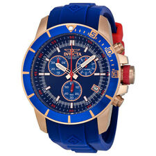 Invicta Pro Diver Chronograph Blue Dial Blue Rubber Mens Watch 11749
